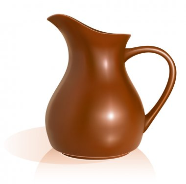 Clay pitcher.