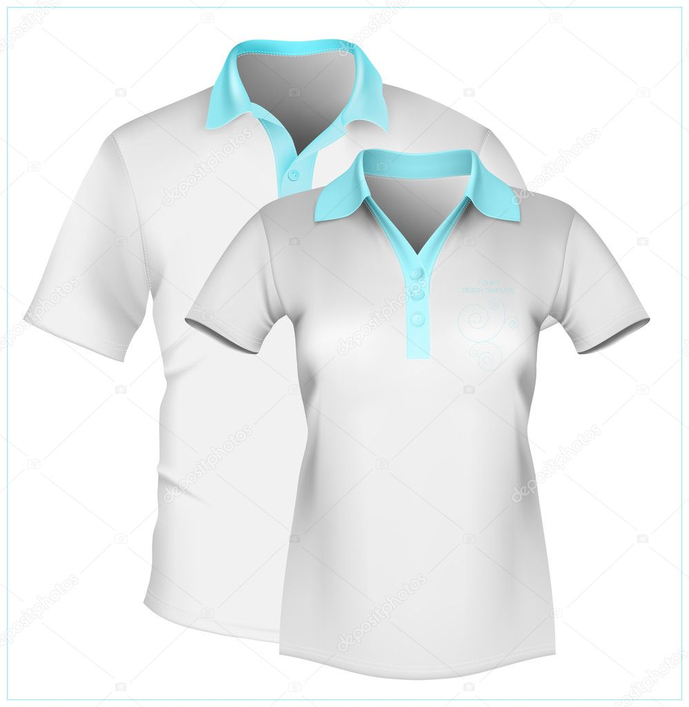 Shirt design illustrator template - Vector Illustration Polo Shirt Design Template Men And Women Vector By Ivelly