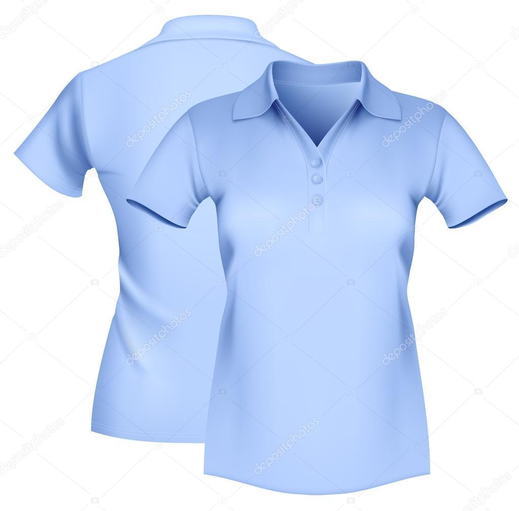 d7f858ee7a modelo de camisa polo feminina — Vetores de Stock © ivelly  33524109