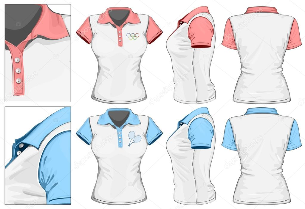 657b2901b2 projeto de polo-camisa feminina — Vetores de Stock © ivelly  33524143