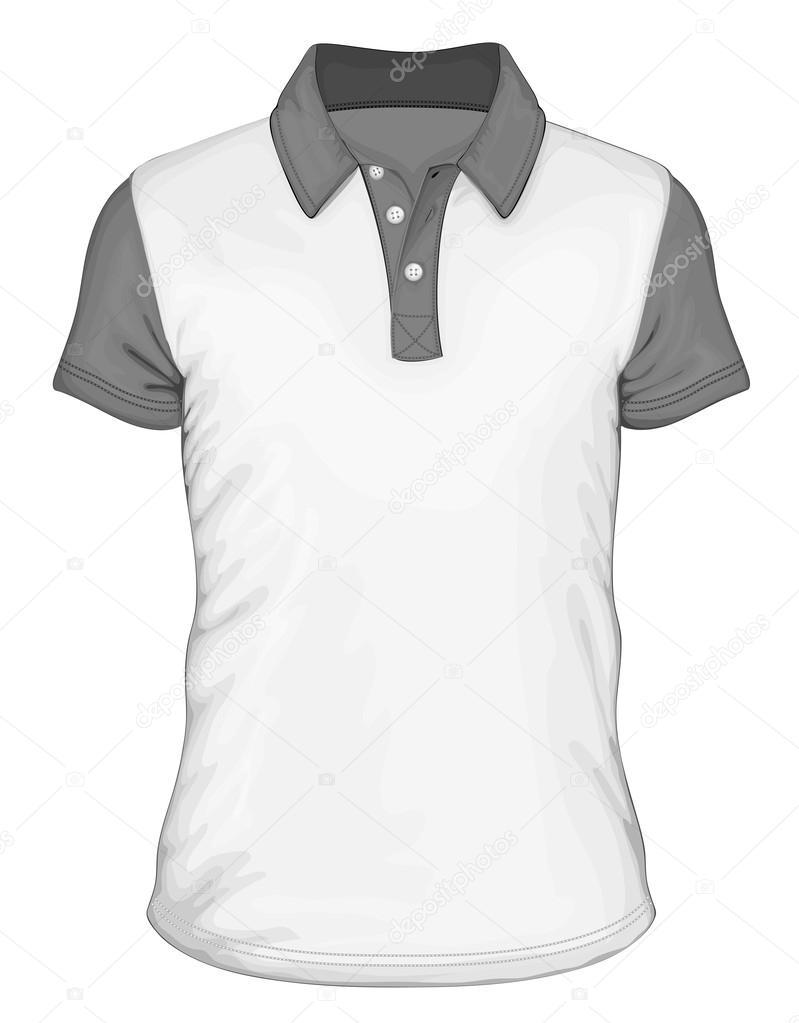 Men s short sleeve polo-shirt design — Stock Vector © ivelly  33524289 8b392ae25999d