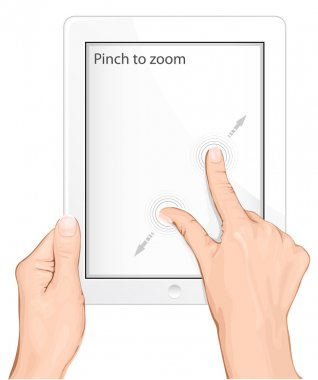 multi-touch gesture for tablets