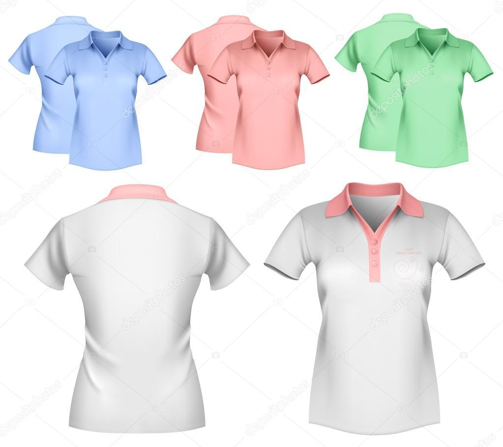 e523076d0e projeto da camisa polo de mulher — Vetores de Stock © ivelly  33590665