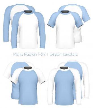Men's raglan t-shirt design template