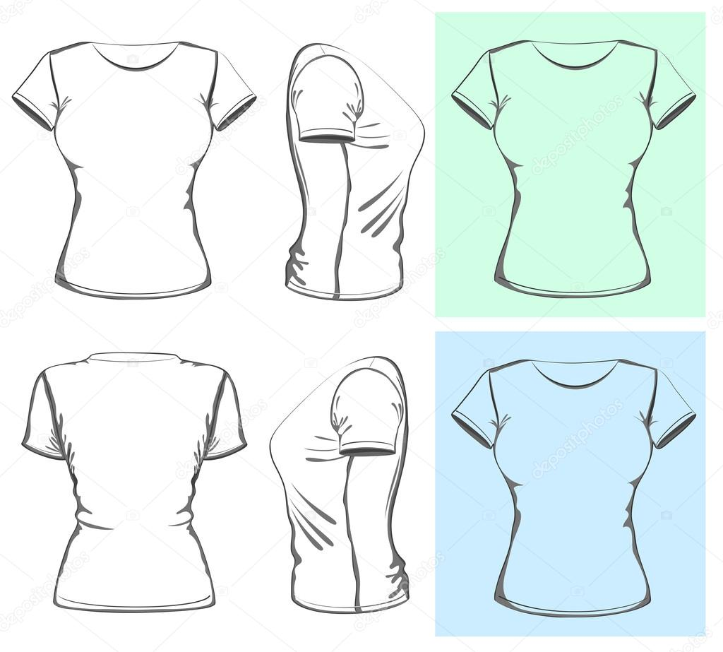 Woman T Shirt Design Vorlage Archivo Imgenes Vectoriales Ivelly