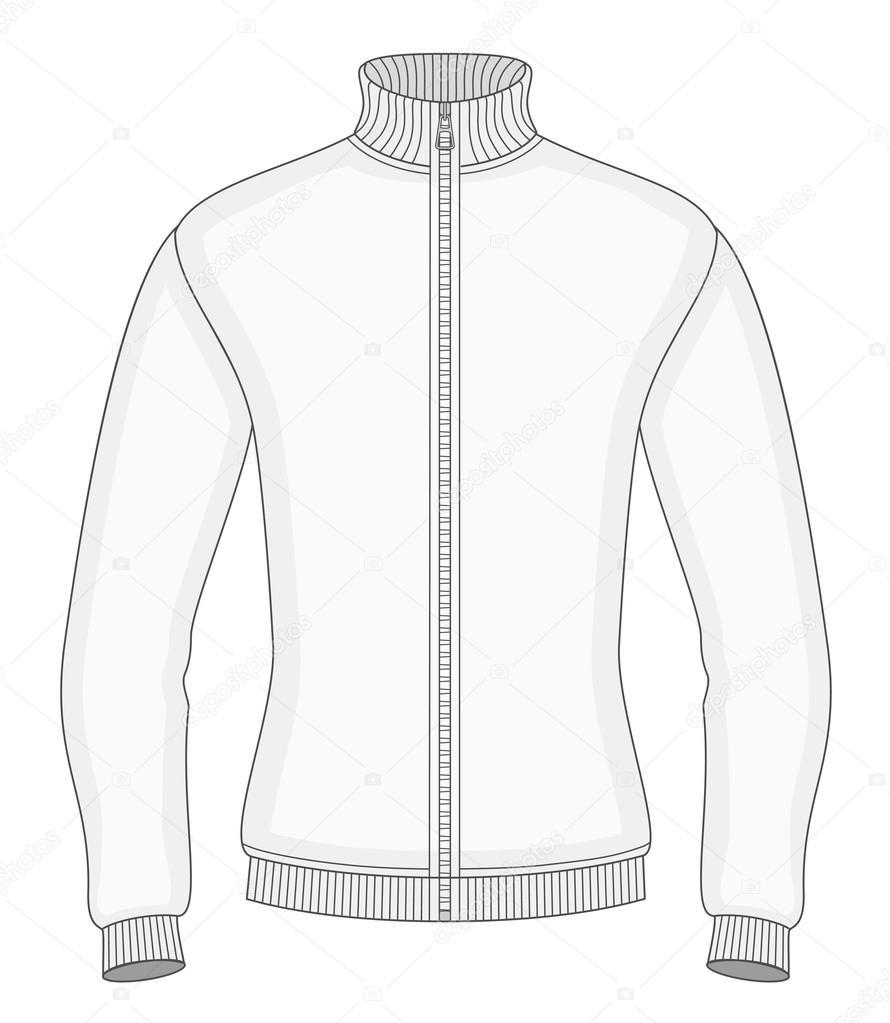 c109b5dda blusa masculina com zíper — Vetores de Stock © ivelly  40283221