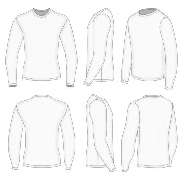 Men's white long sleeve t-shirt