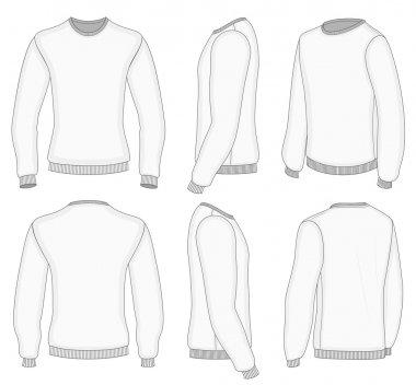 Men's white long sleeve t-shirt.