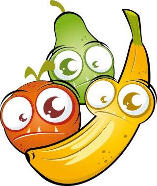 Funny cartoon fruit