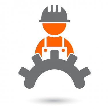 Modern worker sign