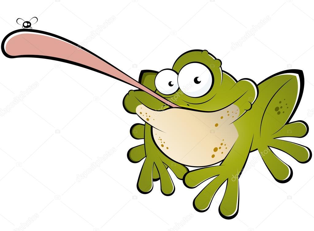 Funny Cartoon Frog Catching Fly Stock Vector C Shockfactor De 12525698