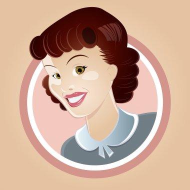 happy retro housewife
