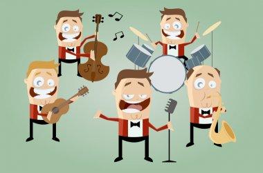 Funny cartoon music band