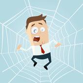 Fényképek rajzfilm embert csapdába spiderweb