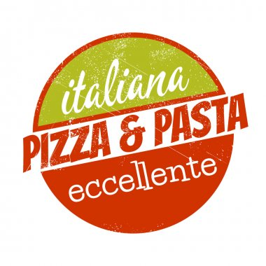 Italian pizza and pasta sign