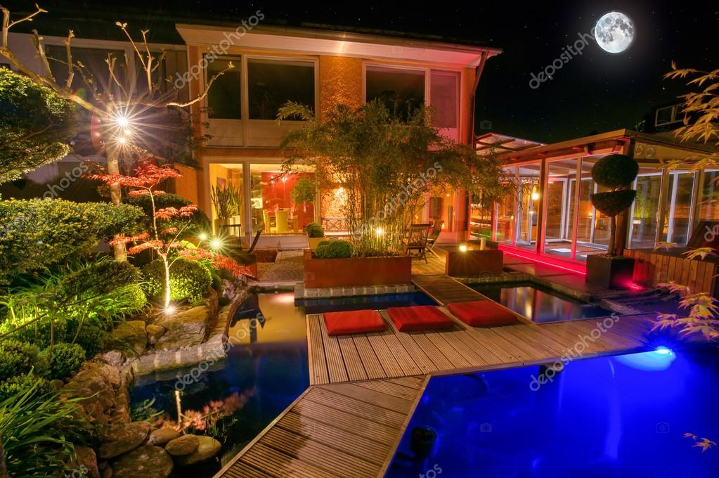 Private Garden at Night