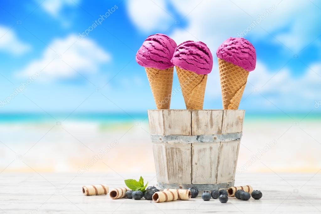 Icecreams At The Beach