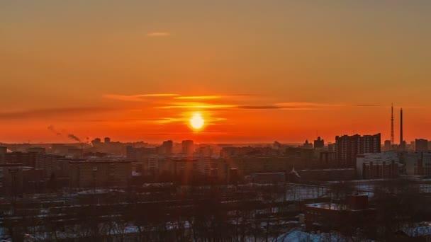 a nap, hogy este. város felébred