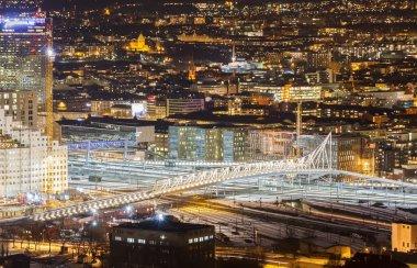 The bridge over the railway. Oslo, Norway