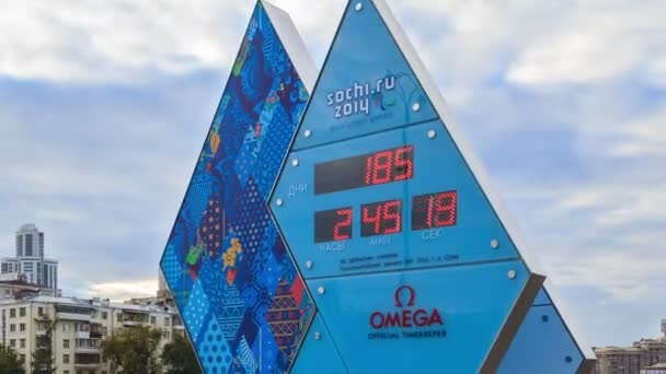 Paralympic Clock Games in Sochi 2014. Time Lapse