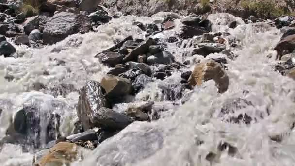White mountain river. Slow-motion