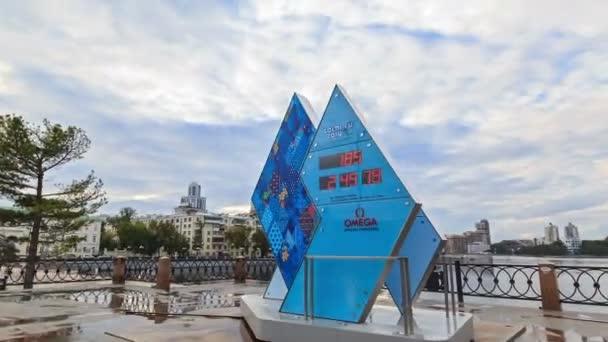 hodiny paralympijských her v Soči 2014. časová prodleva