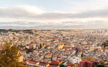 Naples at dawn. View from San Martino. Italy