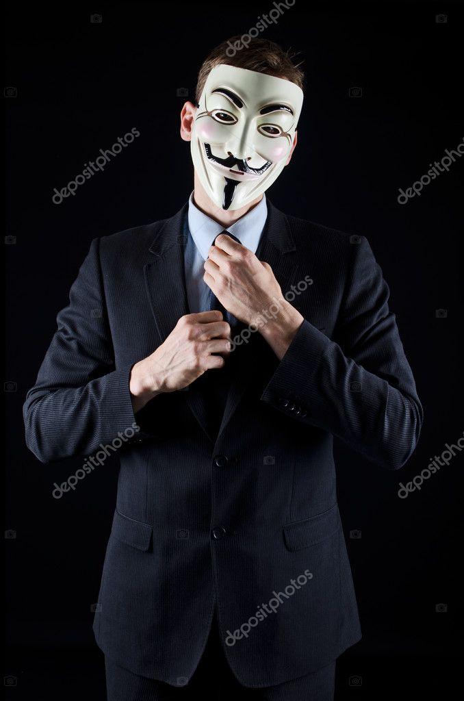 Images V For Vendetta Movie Man In Suit Wearing Vendetta Mask
