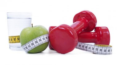 Concept of weight loss or healthy life