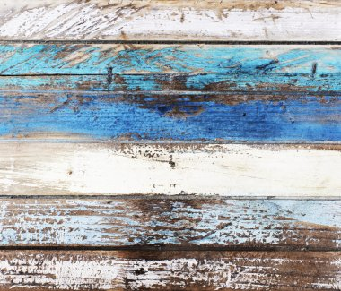 Wooden panel in nautical colors