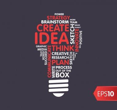 Idea and innovate concept