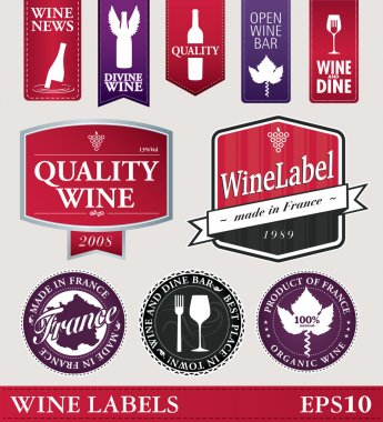 Vector wine labels or logo's