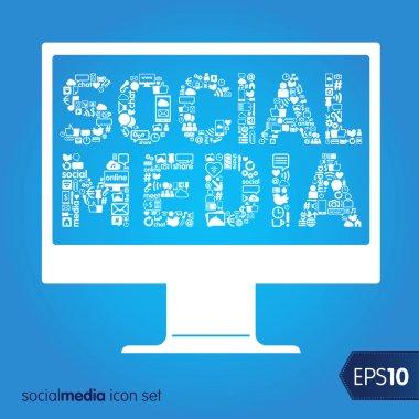Social media vector icons