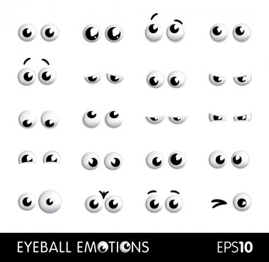Vector funny cartoon eyes