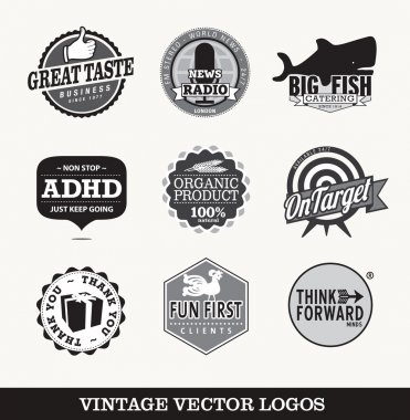 Old retro logo's vector