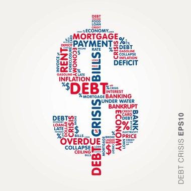Dollar word cloud debt