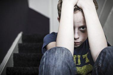 Abused little boy
