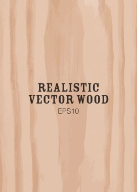 Vector image of wooden panel