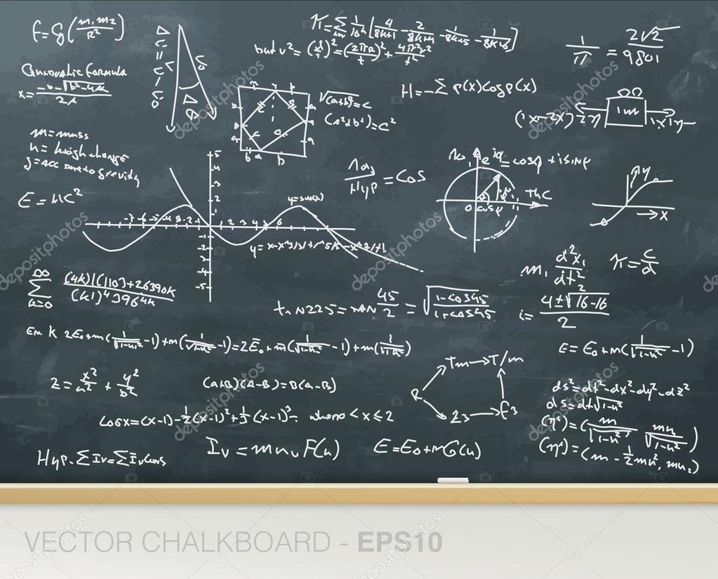 Complex mathematics formulas on blackboard stock vector complex mathematics formulas on blackboard stock vector buycottarizona Images