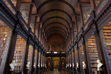 The Long Room in the Trinity College Library