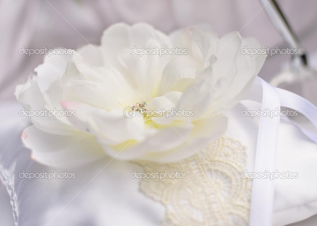 Białe Kwiaty Sztuczne Zdjęcie Stockowe Santiss 33223057