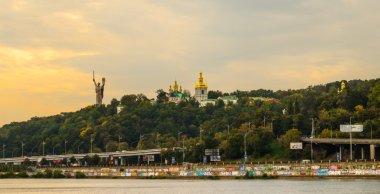 Riverside view of Kiev Pechersk Lavra
