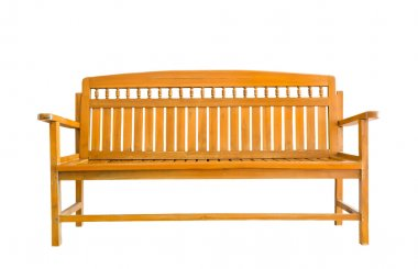 Wooden Bench on white background
