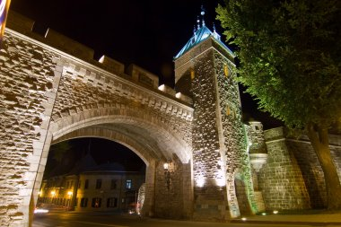 Time exposure of quebec city St,. Louis Gate