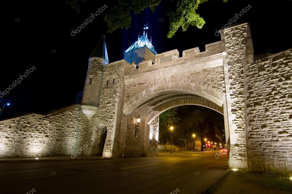 Time exposure of St. Louis Gate quebec City, Canada