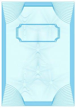 Certificate blue