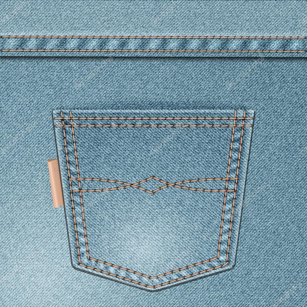 Bolso da calu00e7a jeans u2014 Vetor de Stock u00a9 Iricat #20498065