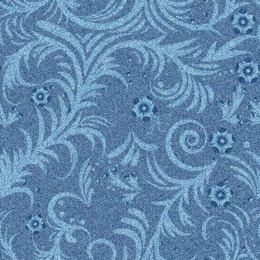 denim floral pattern