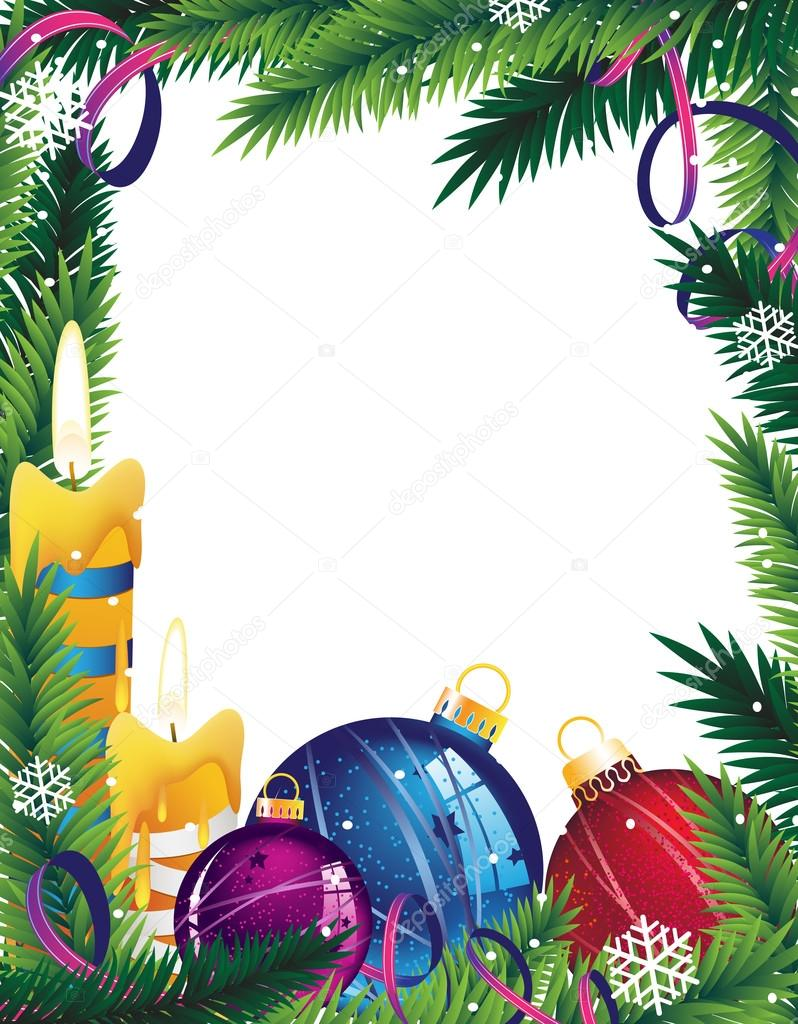 Cornici Foto Di Natale.Illustrazione Decorazioni Natalizie Con Cornici Cornice