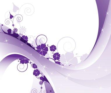 Purple floral pattern